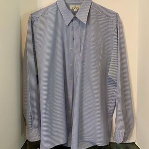 Men's Blue and white striped dress shirt